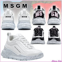 【20SS NEW】MSGM_women / COLLEGE HIKING TRAINERS / 白系 黒系