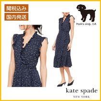 【Kate Spade】 out west wild rose ruffle ワンピ◆国内発送◆