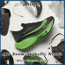 "【Nike】人気 Air Zoom Alphafly Next% ""Black Electric Green"""