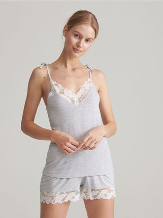 RESERVED ルームウェア・パジャマ 【RESERVED(リザーブド)】Viscose rich pyjama set with shorts(2)