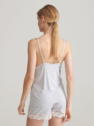 RESERVED ルームウェア・パジャマ 【RESERVED(リザーブド)】Viscose rich pyjama set with shorts(4)