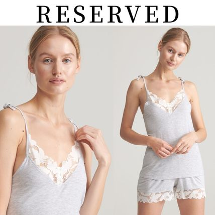 RESERVED ルームウェア・パジャマ 【RESERVED(リザーブド)】Viscose rich pyjama set with shorts