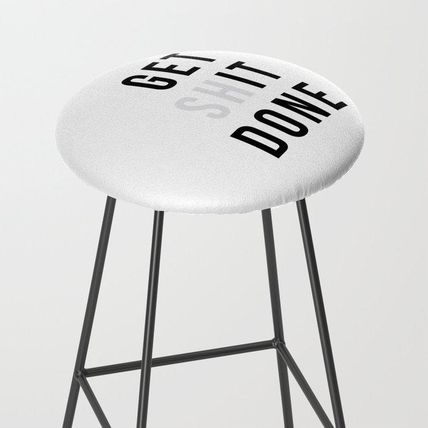 Society6 椅子・チェア 日本未入荷・送料無料 Get Sh(it) Done // Get Shit Done Bar St