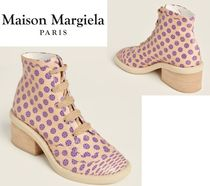 Maison Margiela☆Pink & Purple Leather Ankle Booties