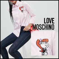 Love Moschino★Embroidered Cartoon チェック柄 シャツ