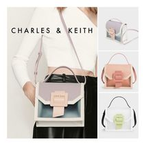★Charles&Keith★See-Through Effect Buckled Bag★シースルー