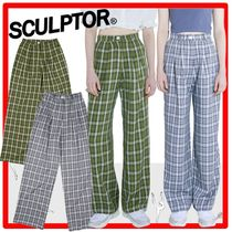 ☆韓国の人気☆SCULPTOR☆Check Wide Leg Pants☆2色☆