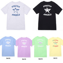 ★STRETCHE ANGELS★Simple Logo Loose Fit T-Shirts/6色