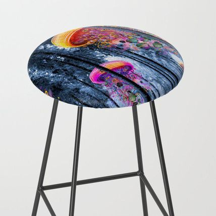 Society6 椅子・チェア 日本未入荷・送料無料 Winter Forest of Electric Jellyfish Wor