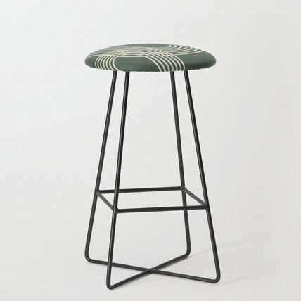 Society6 椅子・チェア 日本未入荷・送料無料 Minimalist Lines in Forest Green Bar St(2)