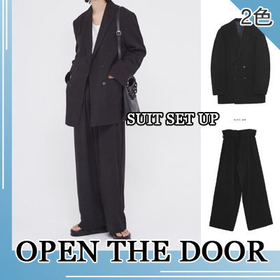 OPEN THE DOOR セットアップ OPENTHEDOOR★UNISEX OVERSIZE SUIT SET UP(BLAZER+PANTS)