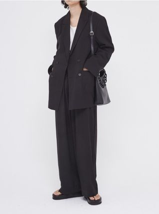 OPEN THE DOOR セットアップ OPENTHEDOOR★UNISEX OVERSIZE SUIT SET UP(BLAZER+PANTS)(2)