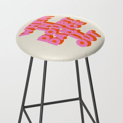 Society6 椅子・チェア 日本未入荷・送料無料 Dance it out Bar Stool
