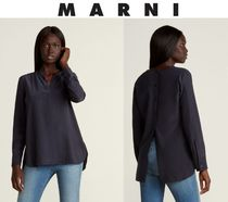 [関税・送料込] MARNI☆Split V-Neck Shirt