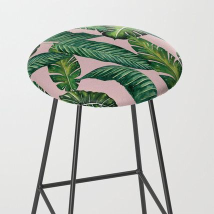 Society6 椅子・チェア 日本未入荷・送料無料 Jungle Leaves, Banana, Monstera II Pink