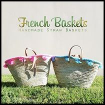French Baskets(フレンチバスケット) かごバッグ French Baskets★Tassel Basket Tote かごバッグ