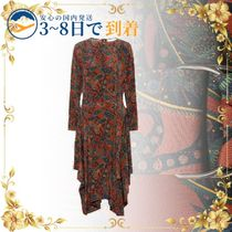 送料無料★セール中★Printed silk midi dress