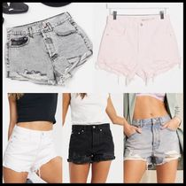 ASOS DESIGN denim mid rise relaxed ripped shorts