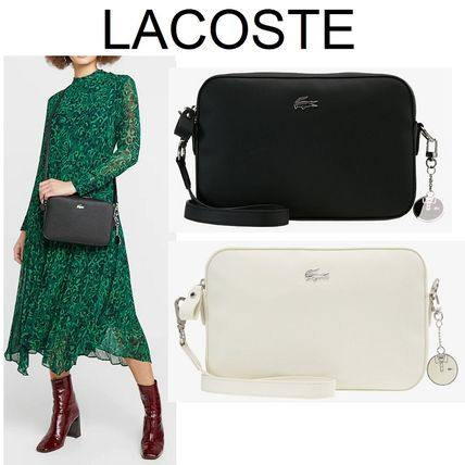 "【LACOSTE】""SQUARE CROSSOVER BAG""ロゴ入りショルダーバッグ2色"