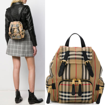 BB377 THE SMALL RUCKSACK IN VINTAGE CHECK NYLON