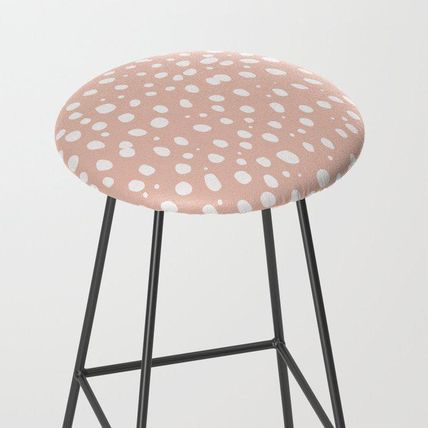 Society6 椅子・チェア 日本未入荷・送料無料 LEOPARD PINK Bar Stool