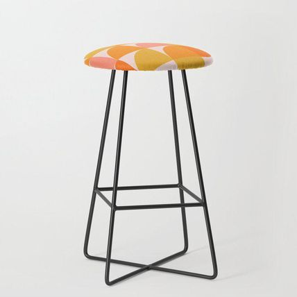Society6 椅子・チェア 日本未入荷・送料無料 Mid Century Mod Geometry in Pink and Or(2)