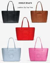 最終セール!!完売前に♪【Cole Haan】Leather Zip Top Tote