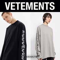 国内発 20AW VETEMENTS gothic logo long sleeve tee 送料関税込
