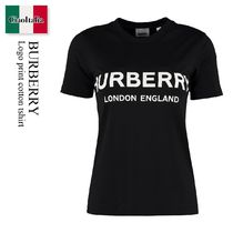 BURBERRY Logo print cotton tshirt
