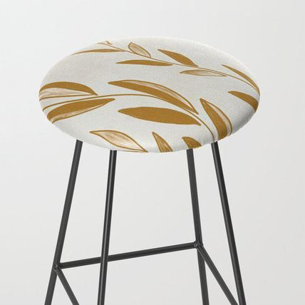 Society6 椅子・チェア 日本未入荷・送料無料 Golden leaves and stems Bar Stool