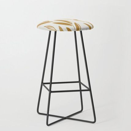 Society6 椅子・チェア 日本未入荷・送料無料 Golden leaves and stems Bar Stool(2)