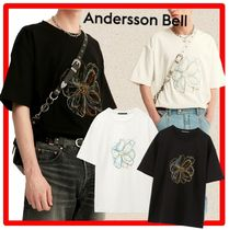 ANDERSSON BELL(アンダースンベル) Tシャツ・カットソー ★人気★ANDERSSON BELL★SUMMER FLEUR EMBROIDERY T-SHIRT★2色