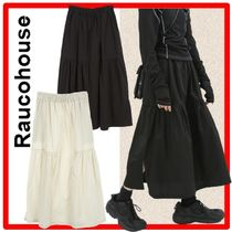☆韓国の人気☆【Raucohouse】☆CASUAL SHIRRING LONG SKIRT☆
