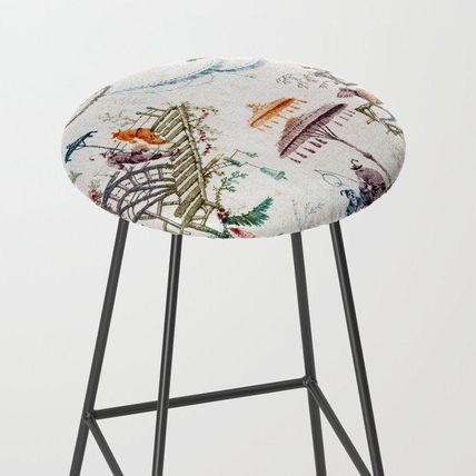 Society6 椅子・チェア 日本未入荷・送料無料 Enchanted Forest Chinoiserie Bar Stool
