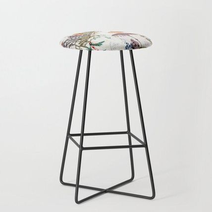 Society6 椅子・チェア 日本未入荷・送料無料 Enchanted Forest Chinoiserie Bar Stool(2)