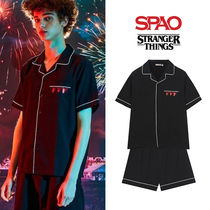 [SPAO x STRANGER THINGS] パジャマセットアップ BLACK★UNISEX