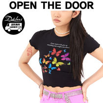 OPEN THE DOOR butterfly wave crop 1/2 T MH1694 追跡付