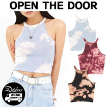 OPEN THE DOOR tie-dye halter neck sleeveless MH1695 追跡付