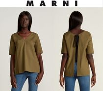 [関税・送料込] MARNI☆V-Neck Back Self-Tie Top