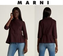 [関税・送料込] MARNI☆Pleated Peplum Hem Top