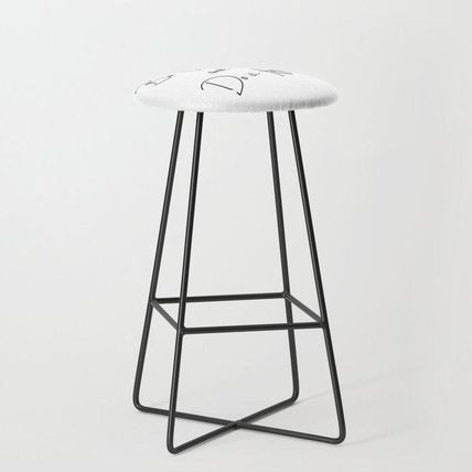 Society6 椅子・チェア 日本未入荷・送料無料 Be Scared and Do It Anyway Bar Stool(2)