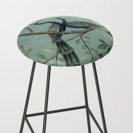 Society6 椅子・チェア 日本未入荷・送料無料 A Teal of Two Birds Chinoiserie Bar Sto