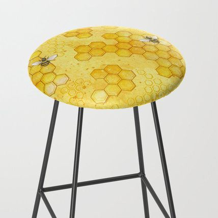 Society6 椅子・チェア 日本未入荷・送料無料 Meant to Bee - Honey Bees Pattern Bar S