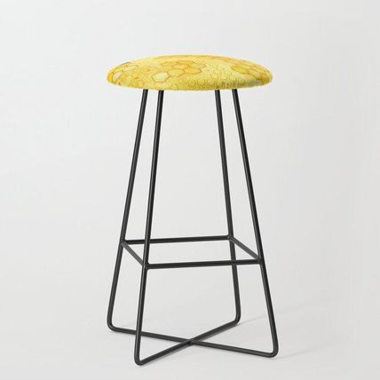 Society6 椅子・チェア 日本未入荷・送料無料 Meant to Bee - Honey Bees Pattern Bar S(2)