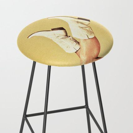 Society6 椅子・チェア 日本未入荷・送料無料 These Boots - Yellow Bar Stool