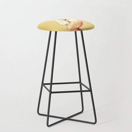 Society6 椅子・チェア 日本未入荷・送料無料 These Boots - Yellow Bar Stool(2)