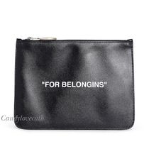 OFF-WHITE FOR BELONGINGS プリント クラッチバッグ