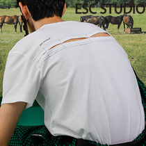 ★ESCSTUDIO★Back slit t-shirt(white)★正規品/韓国送料込