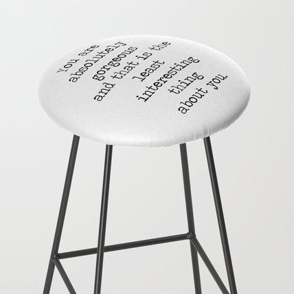 Society6 椅子・チェア 日本未入荷・送料無料 Absolutely Gorgeous Bar Stool