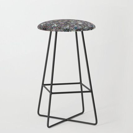 Society6 椅子・チェア 日本未入荷・送料無料 Sparkly colourful silver mosaic mandala(2)